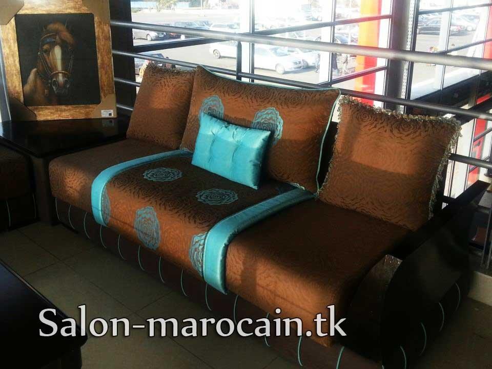 Salon Marocain Turquoise Marron Id Es De Conception Sont Int Ressants Votre