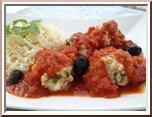 0418- boulettes de viande à la sauce tomate