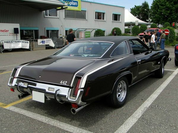 oldsmobile 442 colonnade hardtop coupe 1973 b