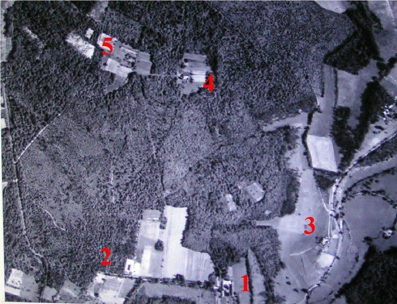 la Borne en 1959 vue aérienne
