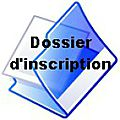 Dossier d'inscription printemps 2017