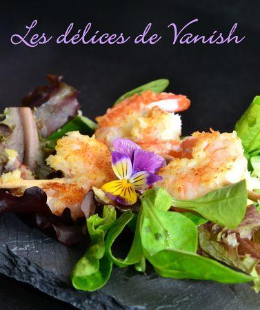 crevettes panée noix de coco - fleur - entrée