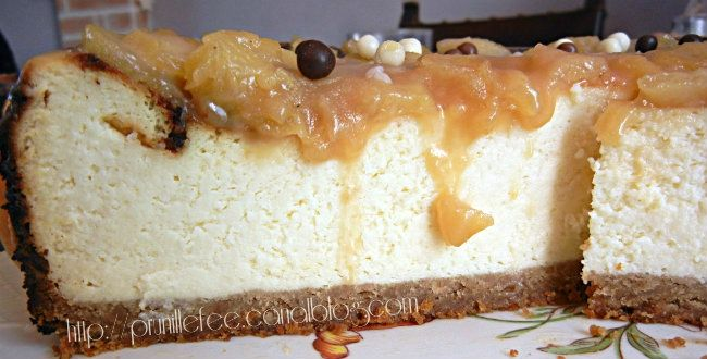 cheesecake pommes caramel