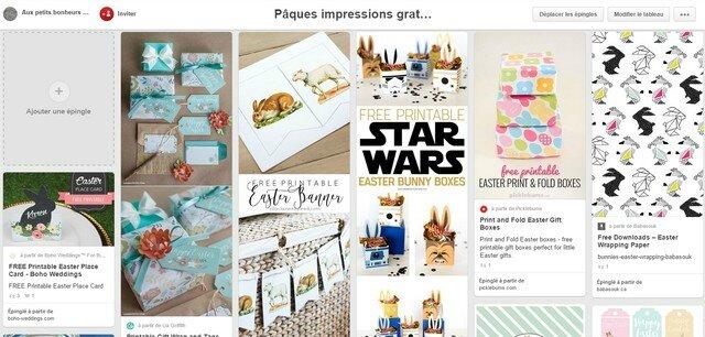 Pinterest Pâques impressions
