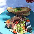 Salade italienne au thon et aux haricots blancs - insalata di tono e cannellini