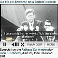 Berlin - jf kennedy 26 juin 1963