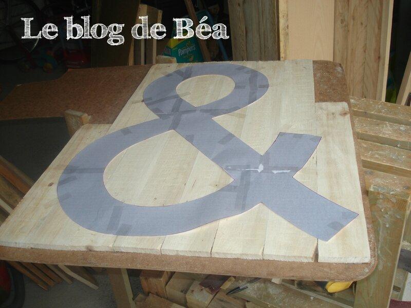 DIY : Esperluette en planches de palette