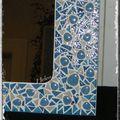 Miroir bleu galetsjapdétail