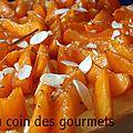 Tarte à la crème/abricots au miel-romarin