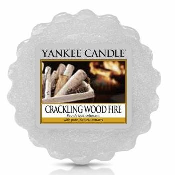 crackling wood fire