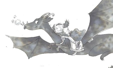 riding dragon with text copie