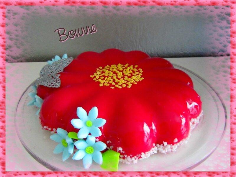 Entremet fleur pistache chocolat (2)