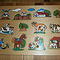 Puzzle en bois theme à la ferme (claire)