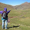 Maître Arnaud face au plateau de Aguas Tuertas (Espagne)