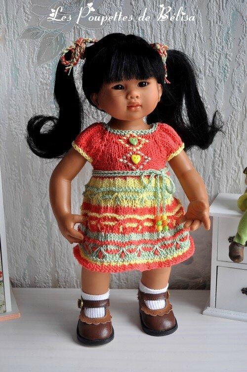 La petite robe tricolore de Leeling...