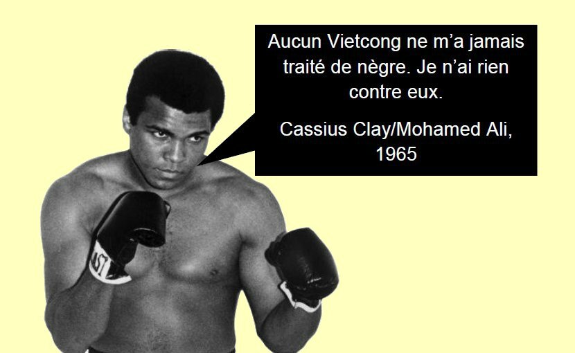 Hommage à Cassius Clay/Mohamed Ali.