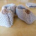 Tricot bébé: bonnet et chaussons