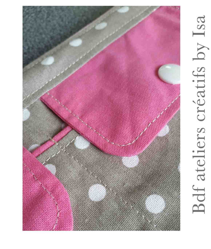 trousse poches rose