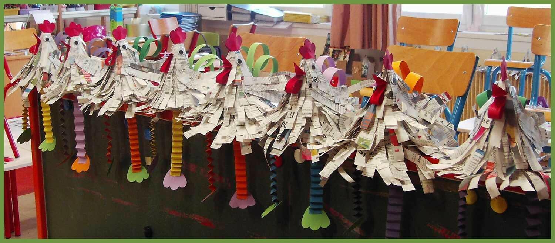 Pour f ter p ques la maternelle des pins - Bricolage en papier journal ...