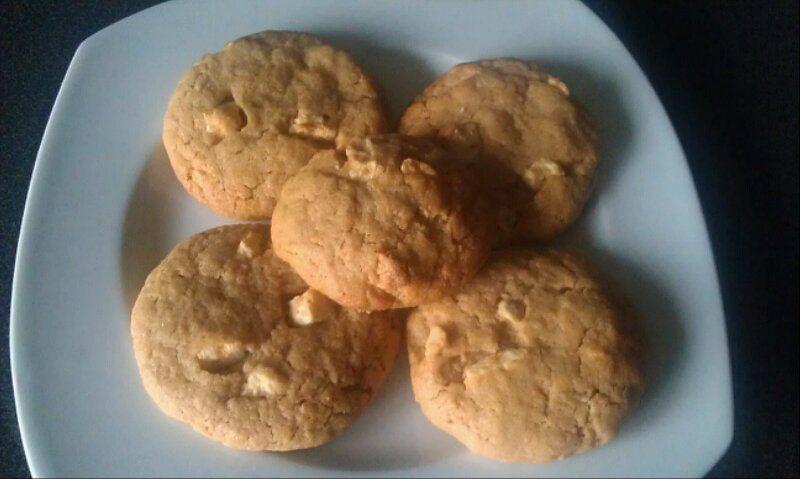 cookies beurre de cacahuete chocolat blanc