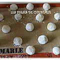 Lemon crinckles ou biscuits craquelés au citron