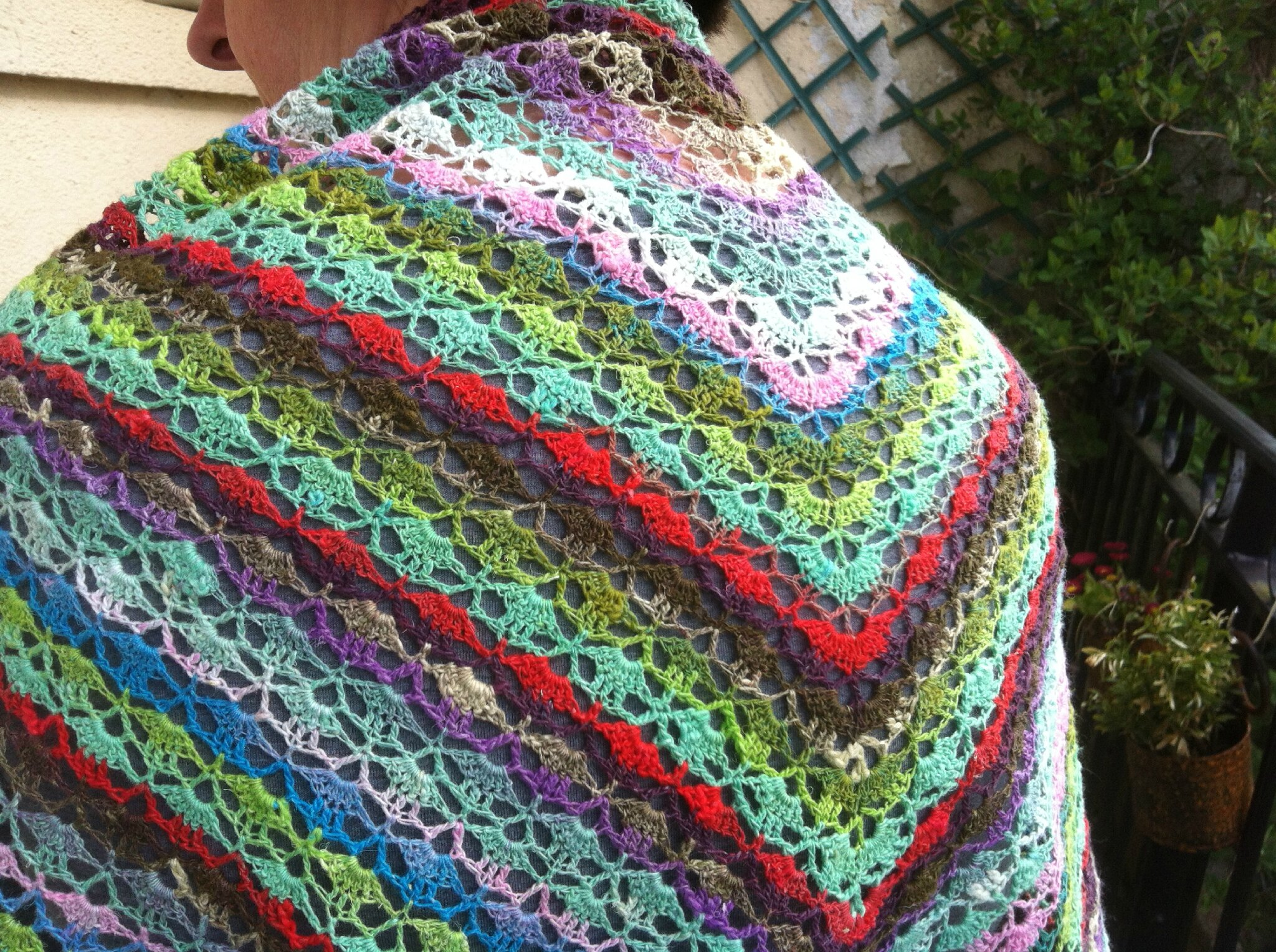 Southbay shawlette