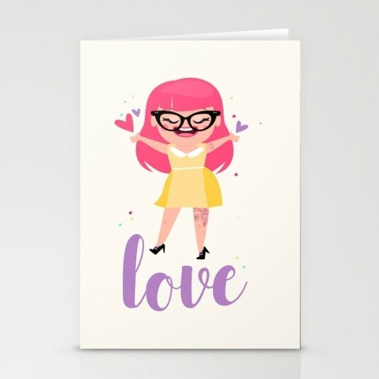 rockabilly-love-daisy-cards