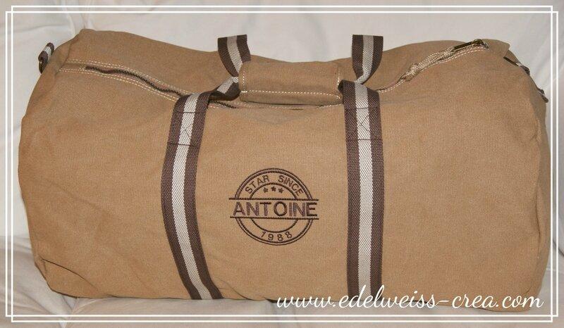 Grand sac polochon XXL vintage sable - Antoine star since 1988 - Cadeau personnalisé