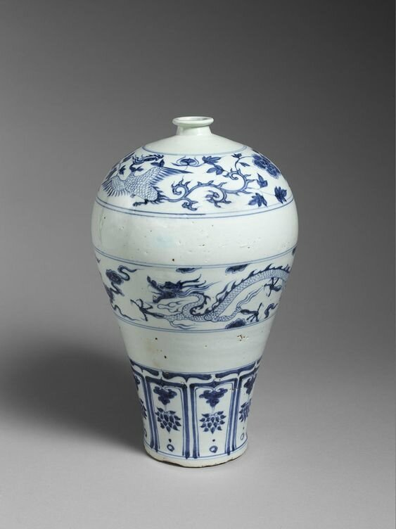 Meiping Vase, China, Yuan dynasty (1279–1368), 14th century