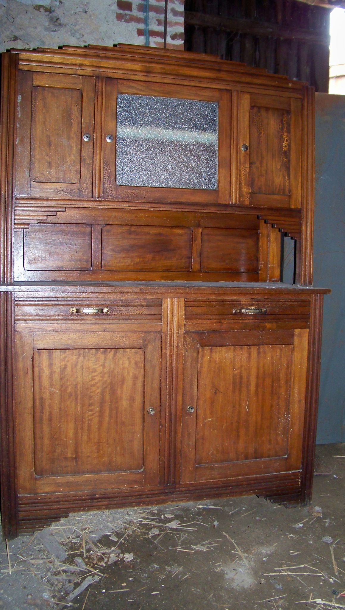 buffet deux corps la petite brocanteuse. Black Bedroom Furniture Sets. Home Design Ideas