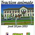 Journée de la traction animale à siez le 20 juin 2013