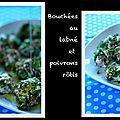 Bouchées au labné et poivrons rôtis