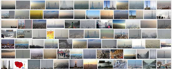pollution paris google