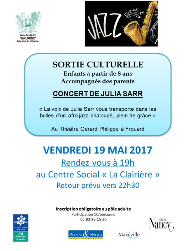 affiche concert julia sarr vendredi 19 mai