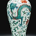 A doucai 'dragon and phoenix' meiping, qing dynasty, 18th century - sotheby's