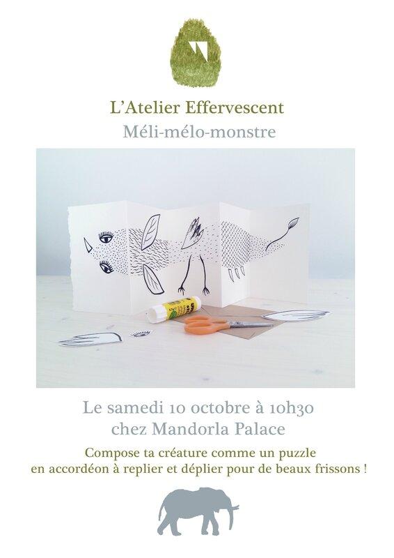 Affiche atelier Mélimélomonstre-2
