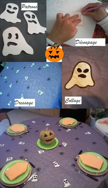 table halloween enfants