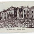 60 - CARLEPONT - Ruines du chateau en 1917