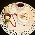 Pavlova glacé vanillé .....