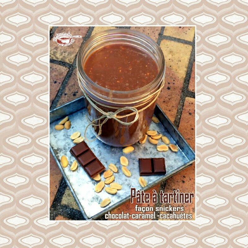 pâte à tartiner snickers cacahuete chocolat caramel (scrap)