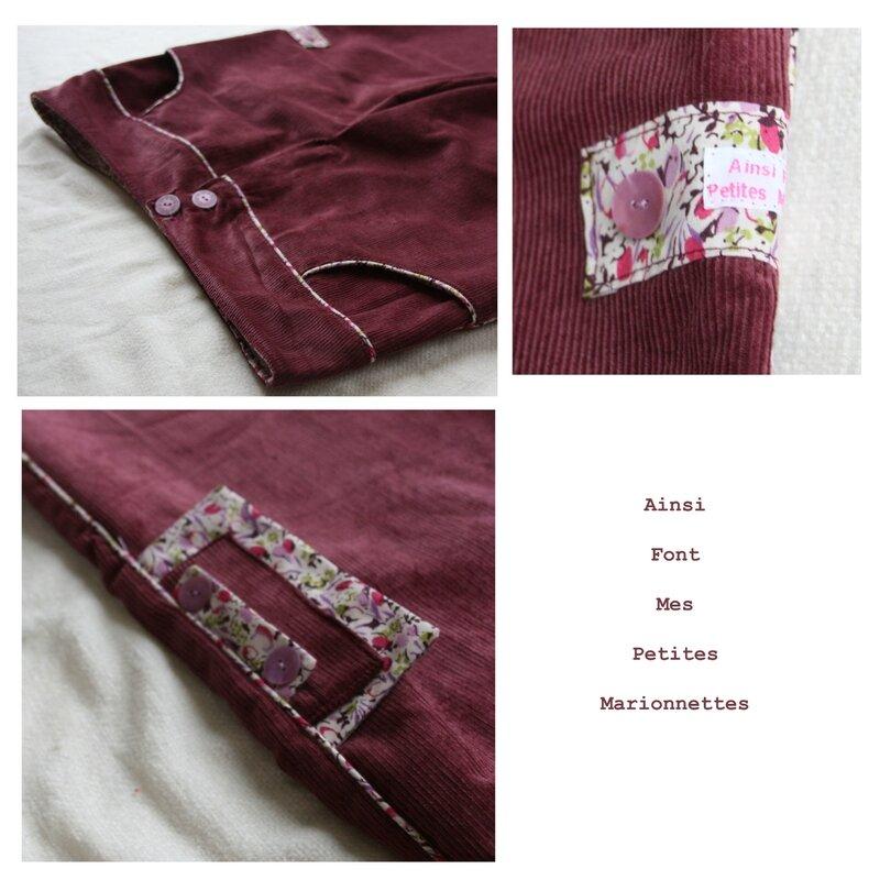 pantalon rose passepoil 3