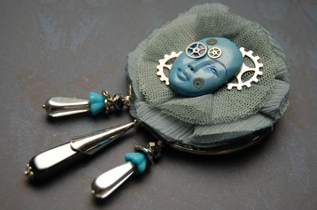 Broche Blue mood 1