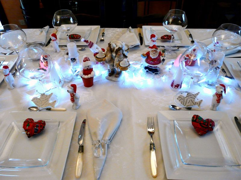 deco de table de noel. top une table de nol frique with deco de