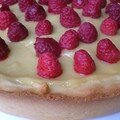 Tarte citron-framboises