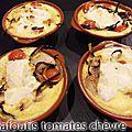 Clafoutis tomates chèvre