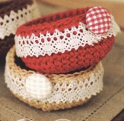 Atelier crochet : vide poche et dentelle