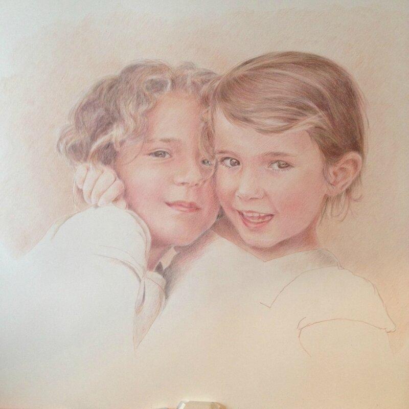 Claire-de-Torcy portrait crayon de couleur
