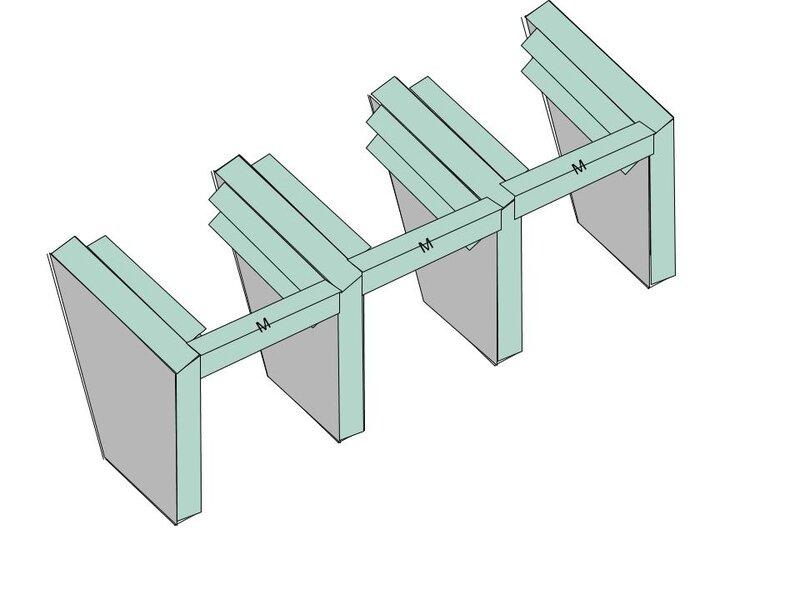 4 - Pose montants horizontaux