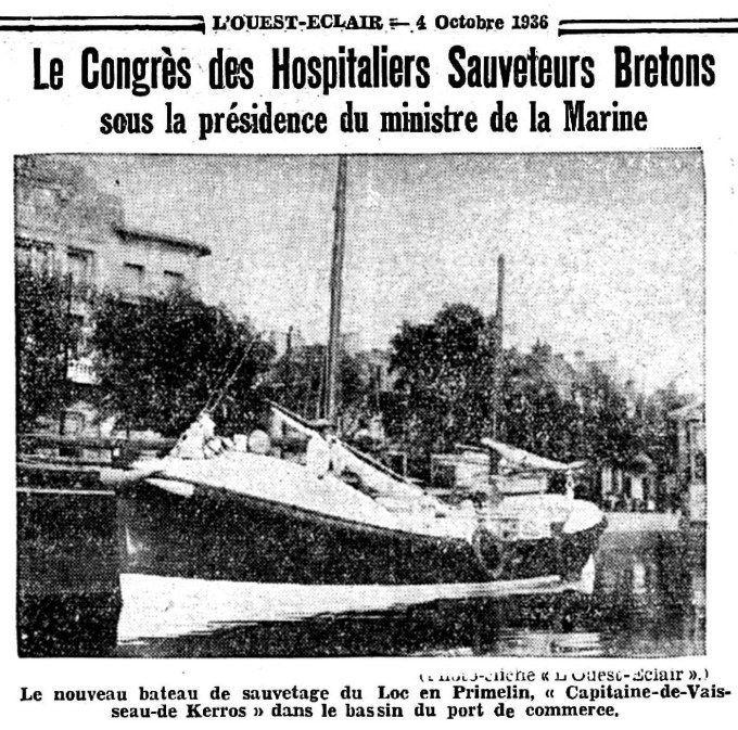 CH12 - Bateau de sauvetage CV de Kerros à Lorient - Congrès HSB 1