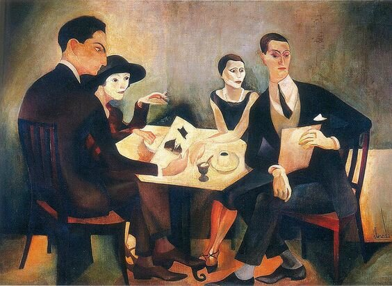 almada negreiros - self-portrait in a group - 1925